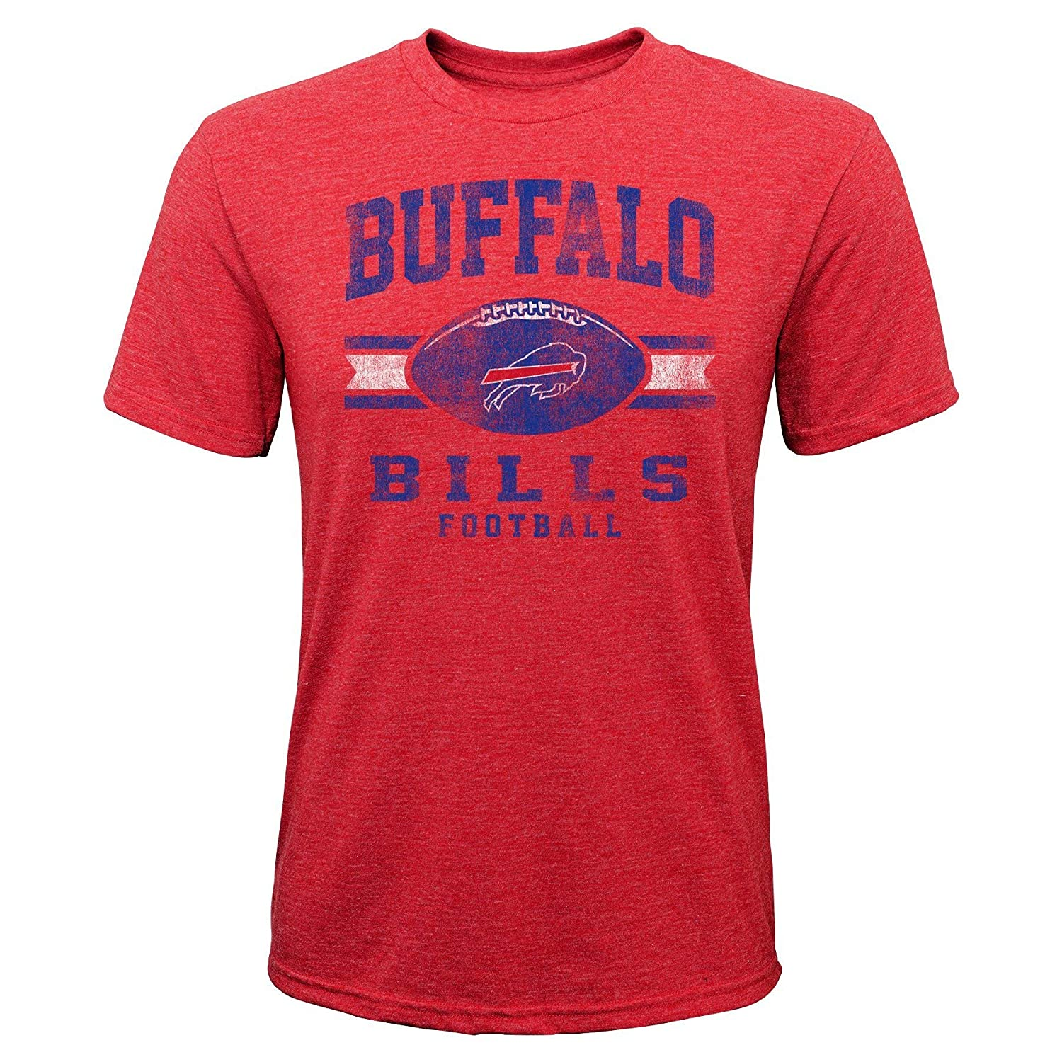 Youth Large Outerstuff NFL NFL Buffalo Bills Youth Boys Player Pride Short Sleeve Tri-Blend Tee Red 14-16