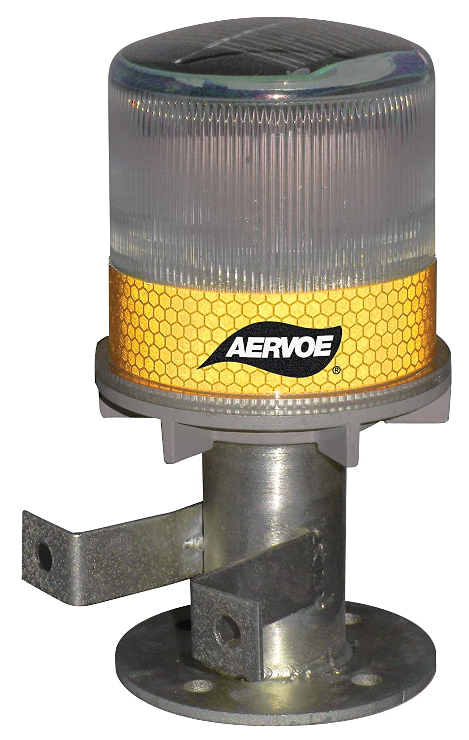 Red Aervoe 1197 Solar Strobe Signal Light