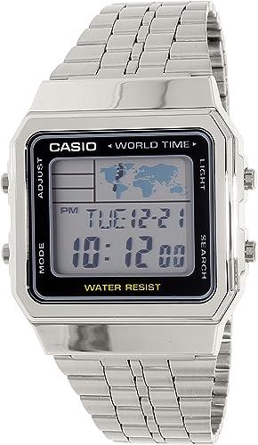 e7ed0b3a6711 Casio Reloj Digital para Unisex de Cuarzo con Correa en Acero Inoxidable  A500WA-1  Amazon.es  Relojes