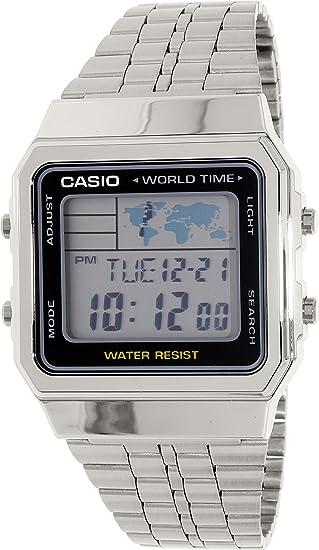 Casio Reloj Digital para Unisex de Cuarzo con Correa en Acero Inoxidable A500WA-1: Amazon.es: Relojes