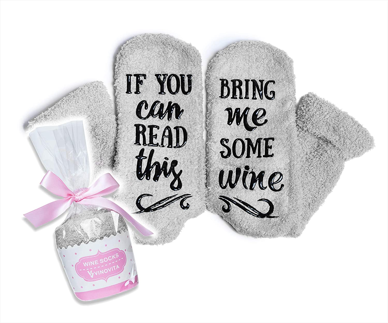 "VINOVITA Funny Wine Socks""If You Can Read This, Bring Me Some Wine"""