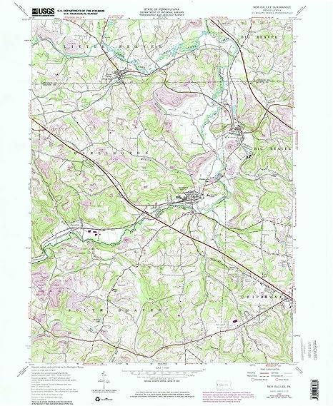 Amazon.com : YellowMaps New Galilee PA topo map, 1:24000 ... on