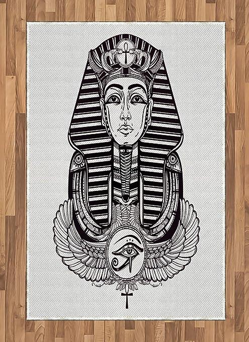 ABAKUHAUS Egipcio Alfombra de Área, Tatuaje Faraón De La Vendimia ...