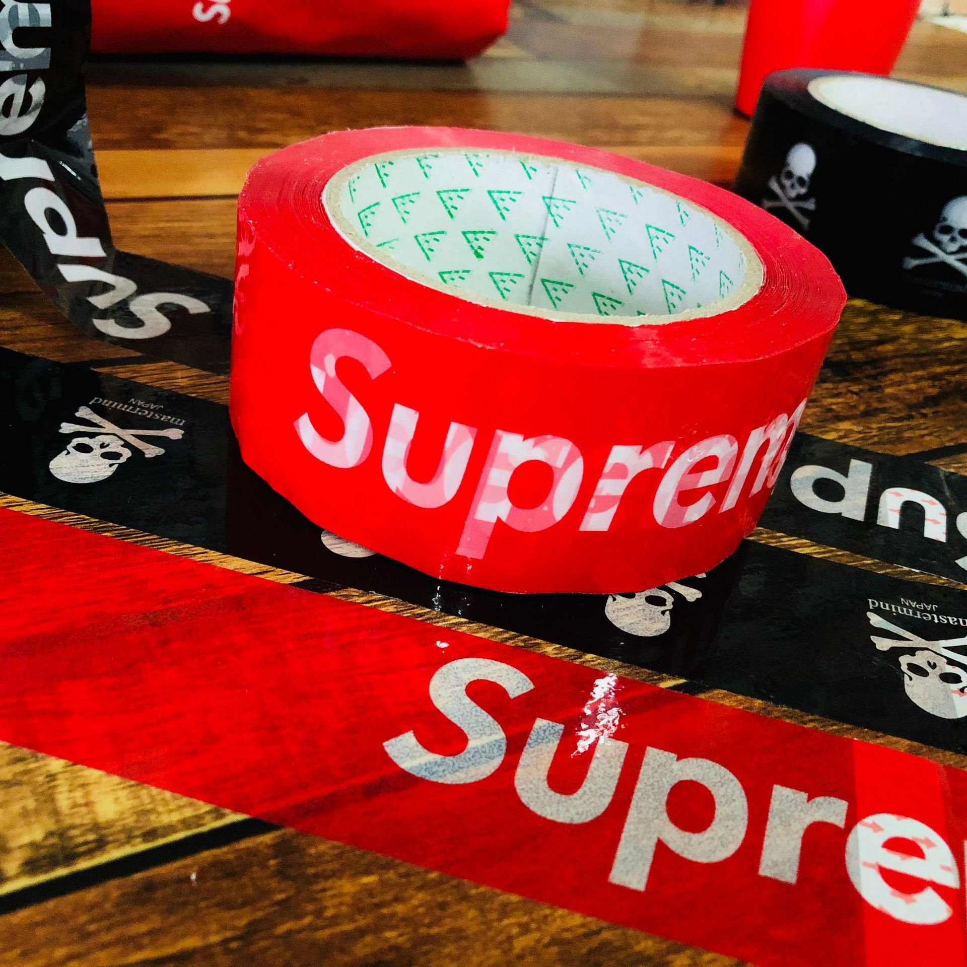 Supreme Heavy Duty Shipping Packaging Tape Adhesive SUP Red Roll Sealing Logo Office Storage Commercial Moving Box Grade Super Thick Roll Carton Industrial Transport (1)