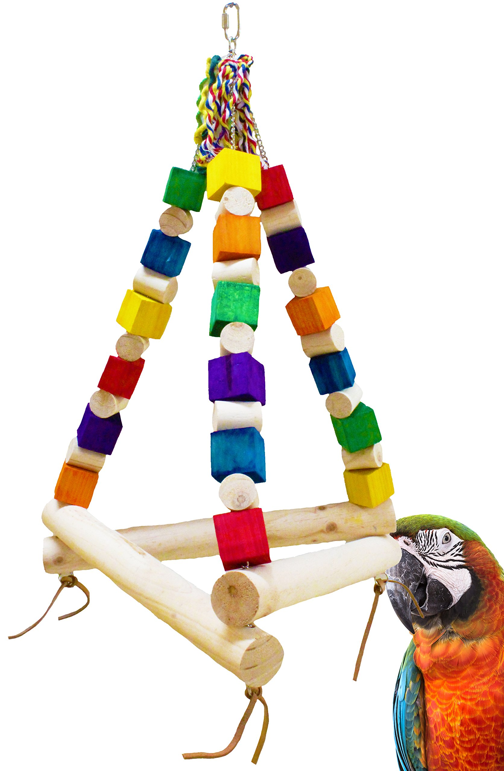 Bonka Bird Toys 1297 Jumbo Tri Swing by Bonka Bird Toys