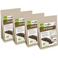 Mr. Brown BIO Chia Samen | aus kontrolliert biologischem Anbau | abgefüllt in Bayern | schwarz | Premium Qualität (4000 GR)