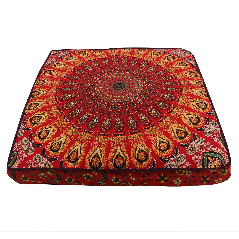 mandala cushion cover, boho floor pillow, bohemian floor cushion, boho seating, Colorful Floor Pillow Cover Pouf Meditation Cushion Seating Bohemian boho dog bed boho decor,