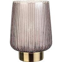 Pauleen 48137 Fancy Glamour mobiele tafellamp Timer batterij grijs glas/metaal