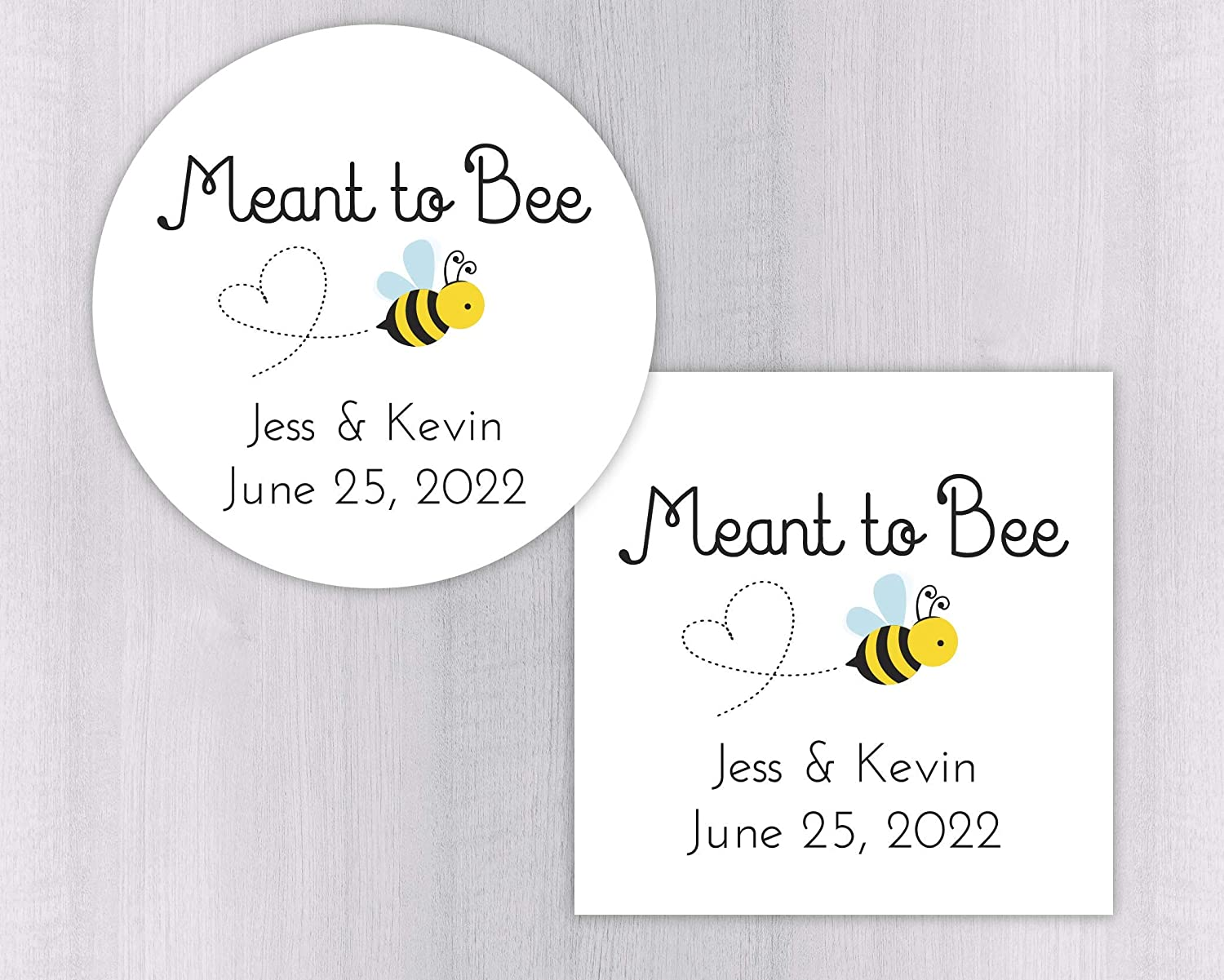 Meant to bee wedding favor stickers honey jar stickers honey jar labels 277 wh