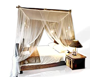 (Square King) - Jumbo Mosquito Netting Canopy for Queen/King Size Bed.