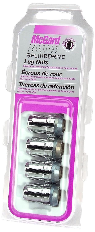 Amazon.com: McGard 65357 Chrome Cone Seat SplineDrive Lug Nut Set (M12 x 1.5 Thread Size) - Set of 4 (5): Automotive