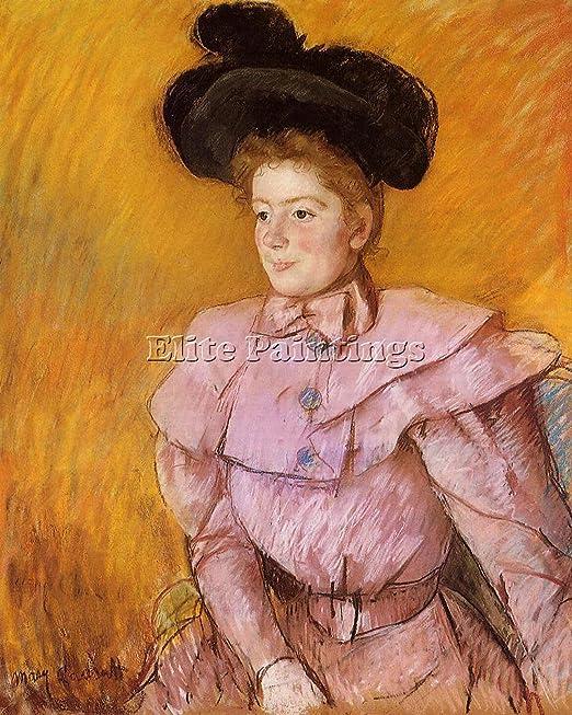Cassatt Mary mujer negro sombrero, color rosa disfraz artista ...