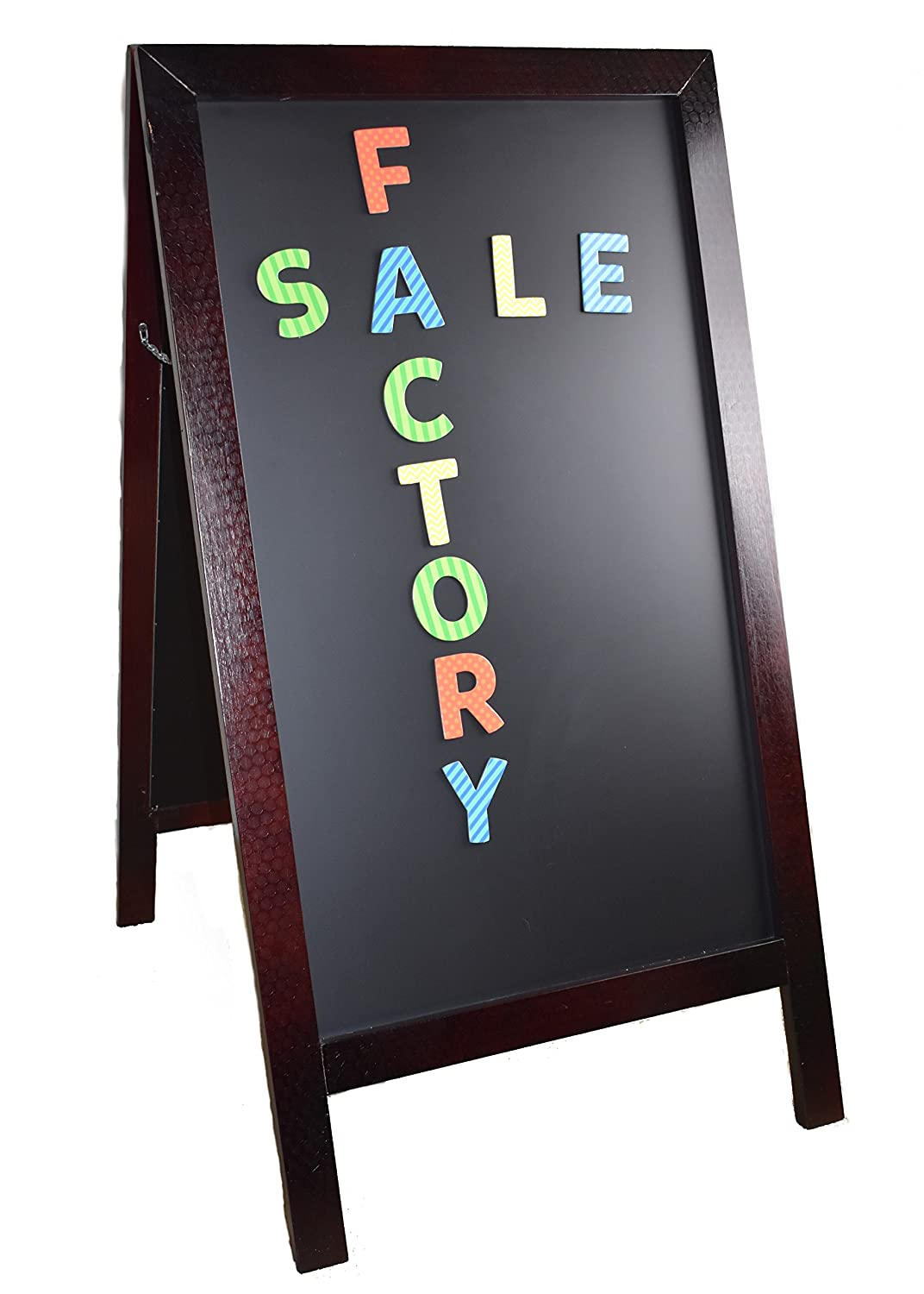 """(FACTORY BLEMISH) COMPONO 42"""" x 24"""" A-Frame Wooden Sidewalk Chalkboard. âš¡ MAGNETIC âš¡ Perfect Blackboard for Restaurants, Bars and Shops. Robust Indoor and Outdoor Sign Ideal for Chalk Markers."""