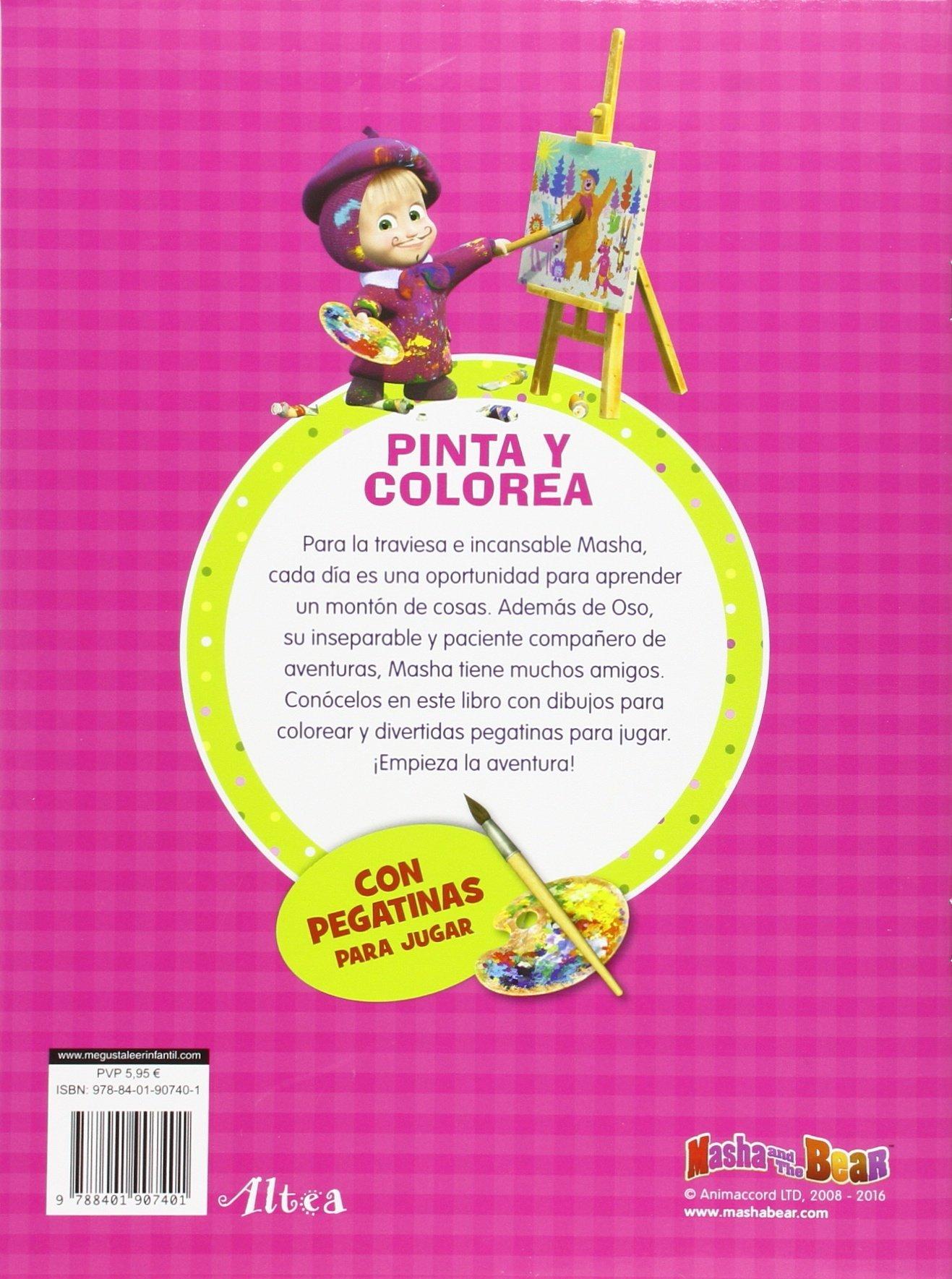Pinta y colorea Masha y el Oso. Actividades : Incluye pegatinas ...