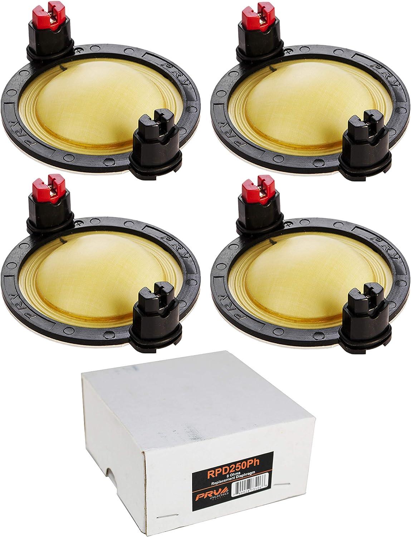4X PRV Audio RPD250Ph Replacement Diaphragm D250Ph-S Compression Driver