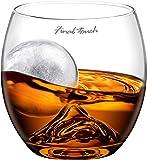 On the Rocks Glass & Ice Ball Mould | Novelty Whiskey Tumbler, Scotch Rocks Glass