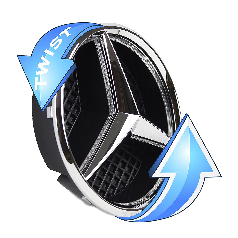 Amazon.com: JetStyle LED Emblem for Mercedes Benz 2011-2018, Front ...