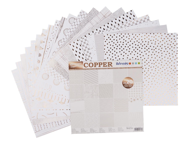 Bloque de 40 papel hojas de papel 40 de Recortes 30 x 30 cm