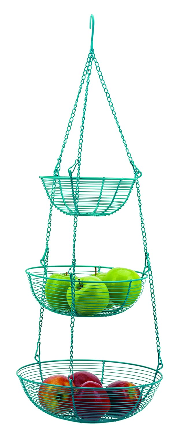 Amazon.com - RSVP 3-Tier Hanging Wire Basket, Turquoise -