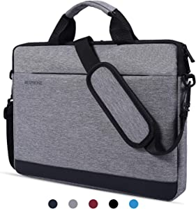 13 Inch Laptop Shoulder Bag Waterproof Notebook Case Sleeve for Acer Chromebook R 13, Google Pixelbook, Lenovo Yoga 720/730 13.3, Samsung Chromebook Plus/Pro, HP, ASUS, 12.3-13.3 inch Laptop Bag, Grey