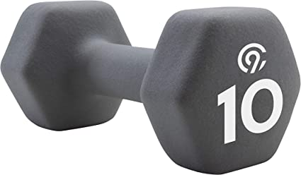 10-Pound,Hand Weights Fitness Workout Black  Free Ship Neoprene Coated Dumbbell