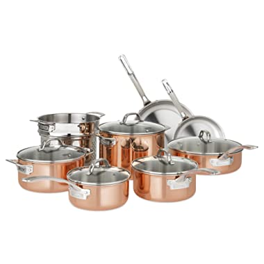 Viking Culinary 40571-9993C Copper Stainless Steel Cookware Set 13 Piece