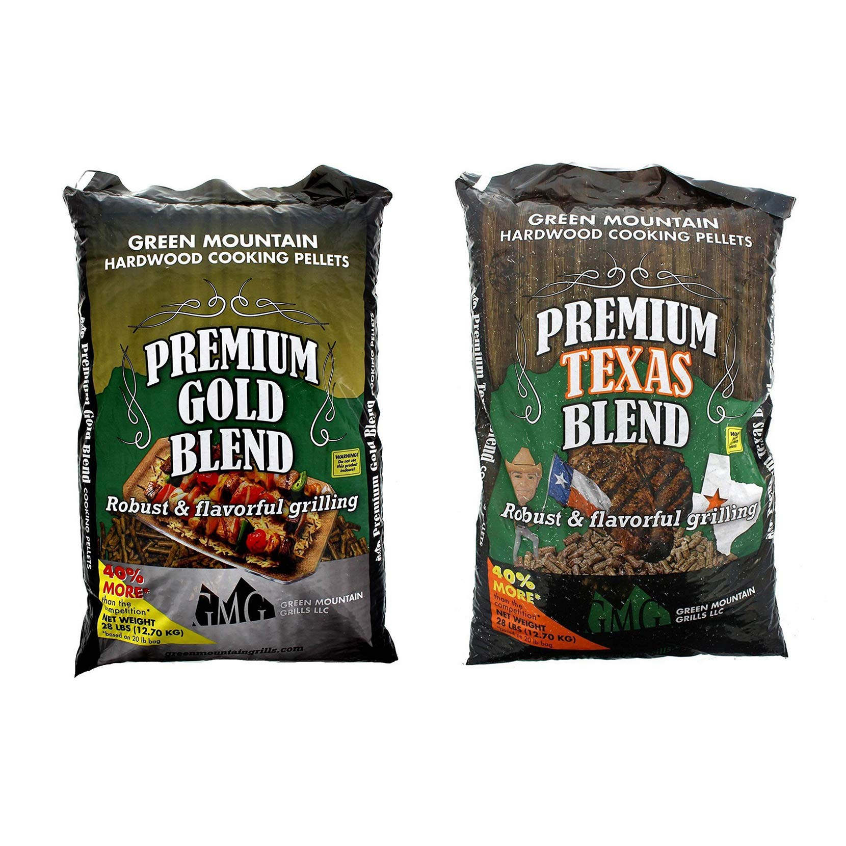 Green Mountain Premium Gold Blend Grilling Pellets, Premium Texas Blend Pellets by Green Mountain Grills