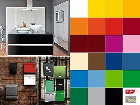 dc-fix selbstklebende Folie Tapete Klebefolie für Möbel Küche Tür & Deko  Fototapete versch. Unifarben matt & glanz Möbelfolie Küchenfolie Türfolie  ...