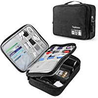 Topbooc Universal Electronics Accessories Organizer for Cables Hard Driver (Black)