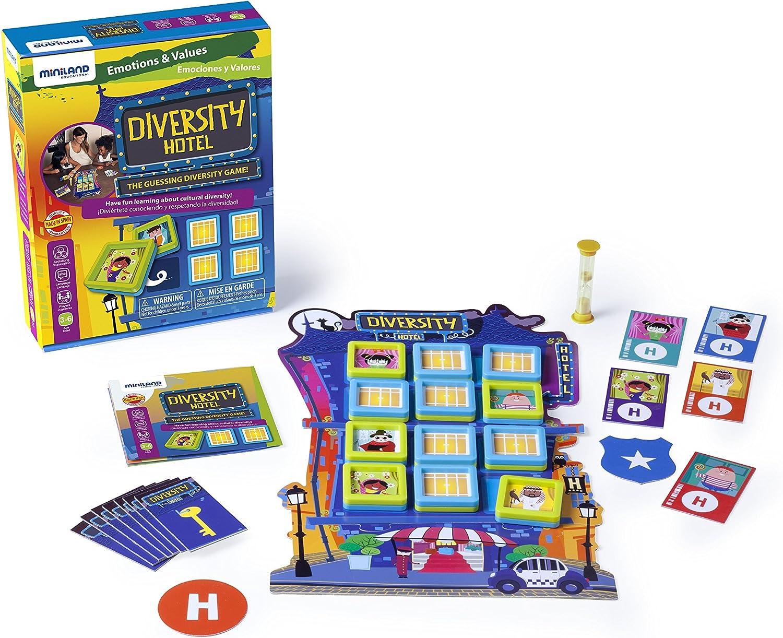 Miniland- Diversity Hotel Juego para niños sobre emociones. (45404 ...