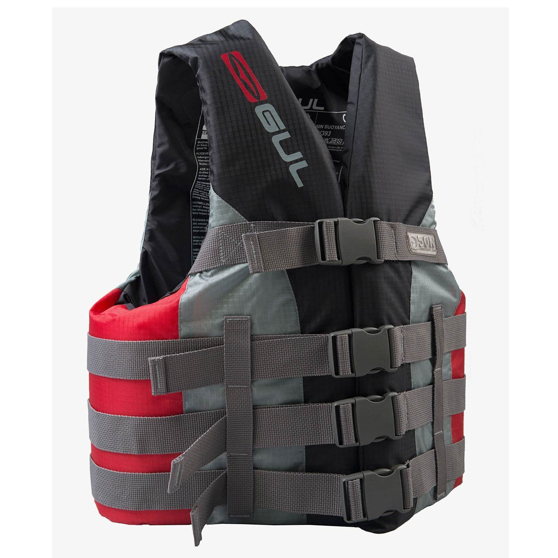 Gul 50N 4 Buckle Impact Vest//Buoyancy Aid Black//Red SK7102