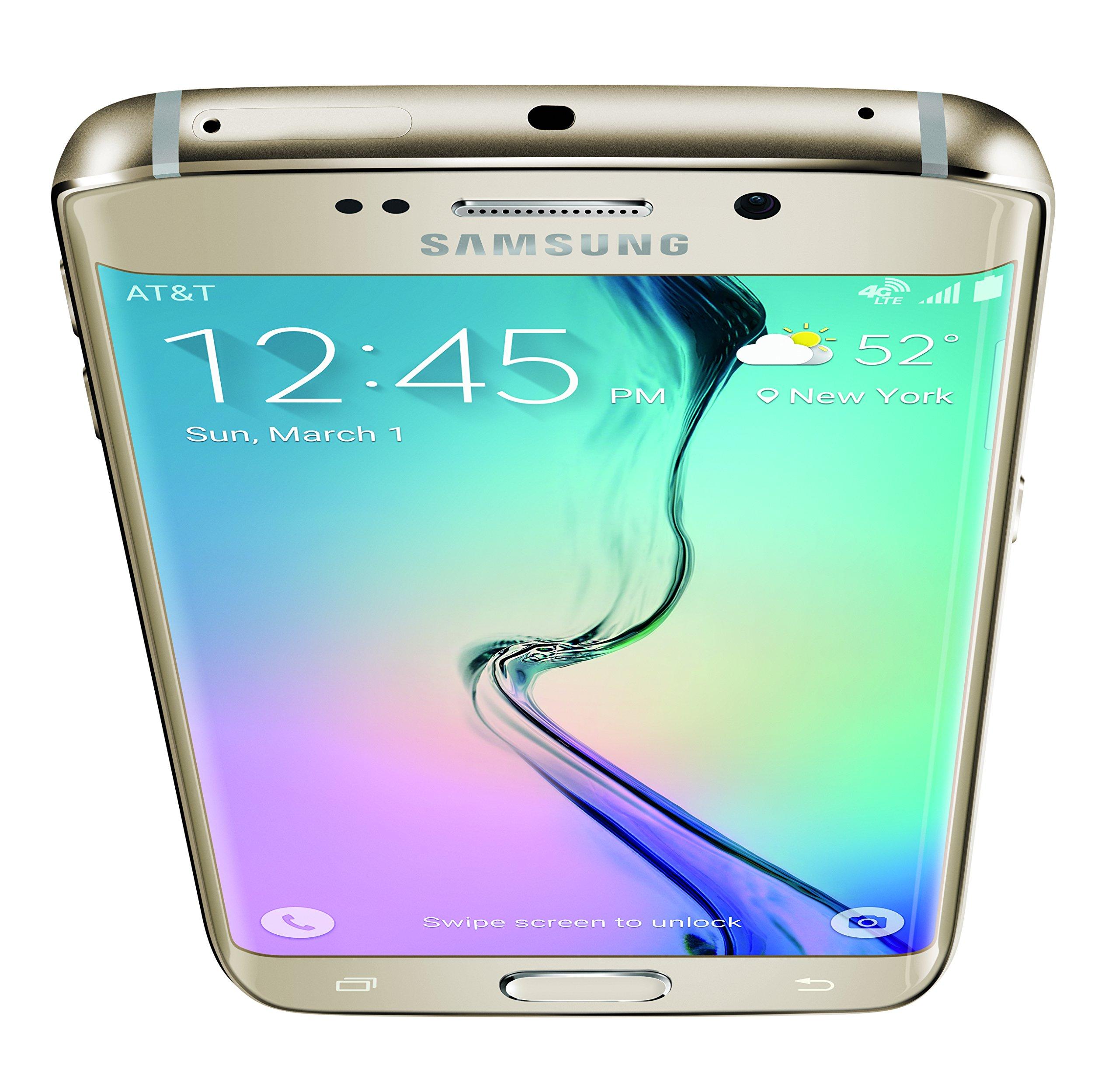 Samsunf Platinum: Samsung Galaxy S6 Edge, Gold Platinum 64GB (AT&T)