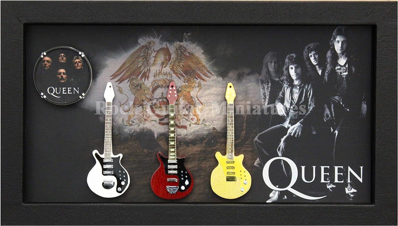 RGM9039 Queen colección de Guitarra en Miniatura en Marco de Caja ...