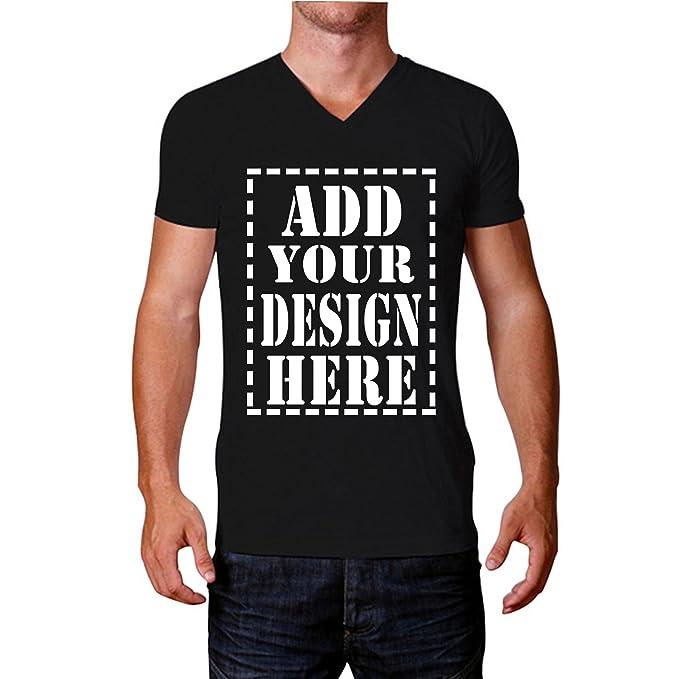 0f01a2bf7 Amazon.com: JISPO Add Your Design Here Custom 3D Printed V NeckT Shirts For  Men: Clothing