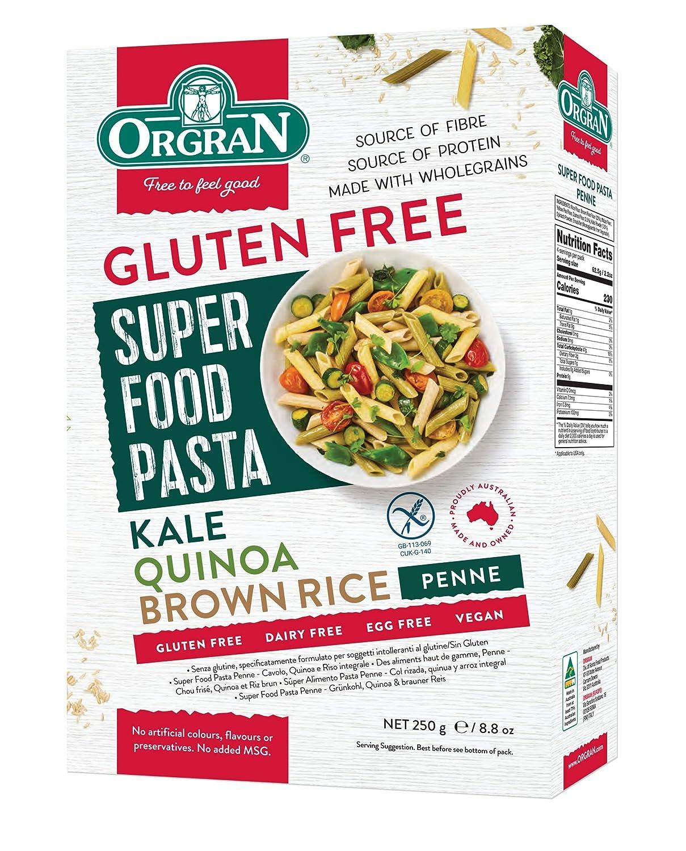 Organ Super Food - Gluten Free Brown Rice, Quinoa and Kale Penne Pasta 250g