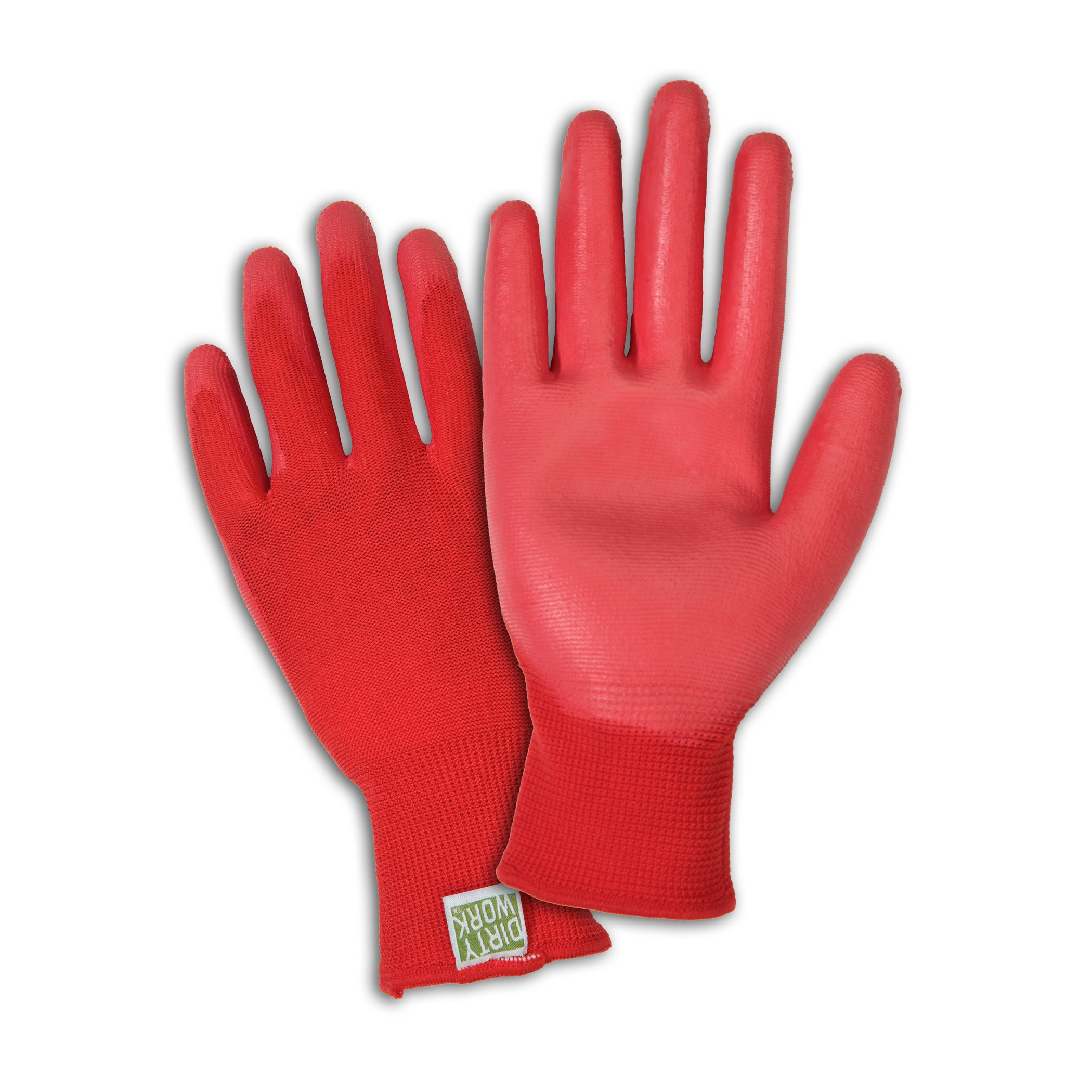 DIRTY WORK DW37165 Stretch Knit Gardening Gloves with Polyurethane Coated Palm: Women's Large, 1 Pair