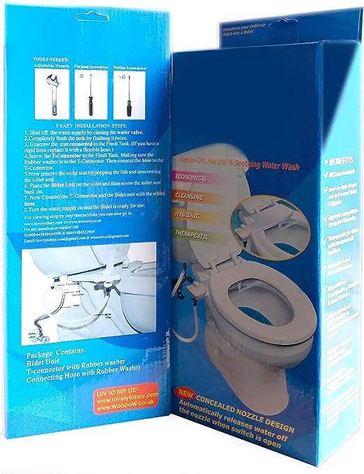 Asiento de inodoro bid/é bid/é agua dulce pulverizador ducha auto limpieza boquilla higi/énico conector en T mec/ánico asiento de inodoro bid/é de agua fr/ía//caliente bid/é de inodoro