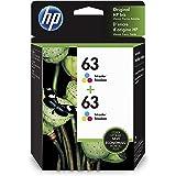 HP 63   2 Ink Cartridges   Tri-color   Works with HP DeskJet 1112, 2100 Series, 3600 Series, HP ENVY 4500 Series, HP OfficeJe