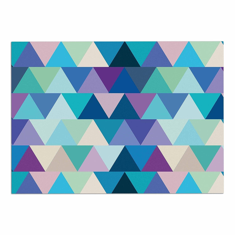 KESS InHouse CD2011ADM02 Draper Crystal Purple Geometric Dog Place Mat, 24 x15