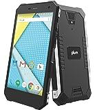 "Plum Gator 4 - Rugged Smart Cell Phone Unlocked Android 4G GSM 13 MP Camera 5"" HD Display IP68 Military Grade Water Shock Proof 5000 mAh - Black"