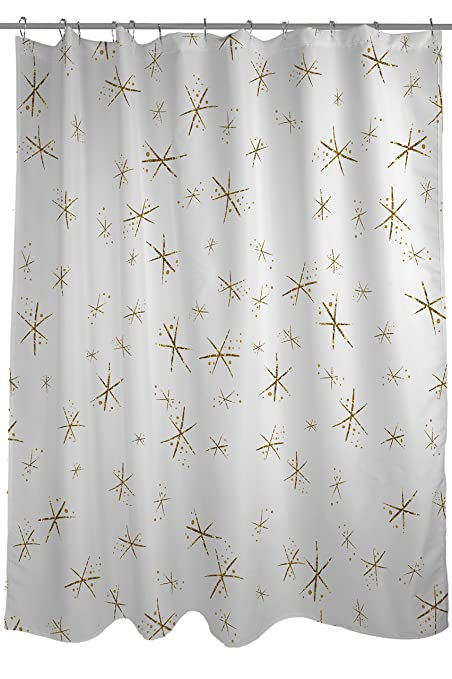 One Bella Casa Hello Beautiful Sparkles Shower Curtain By Timree Gold Standard 71quot