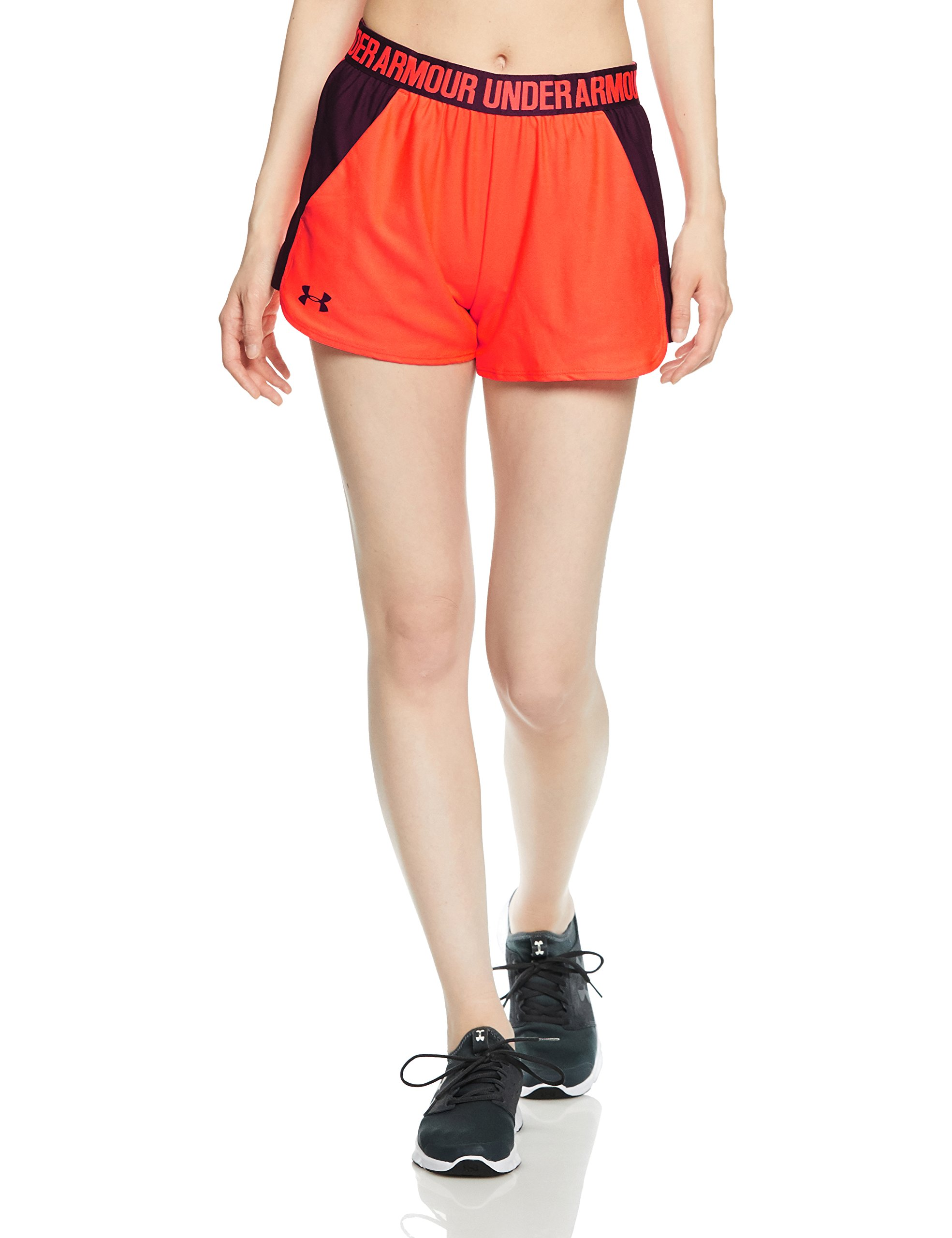 Under Armour Women's Play Up Shorts 2.0, Neon Coral (985)/Merlot, X-Small