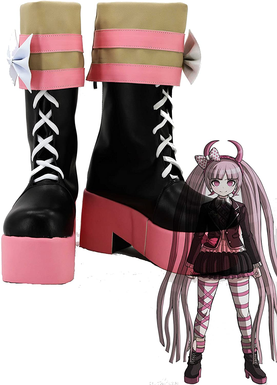 Hot! Cosplay Shoes White Boots Flat Heel Custom Made V.188