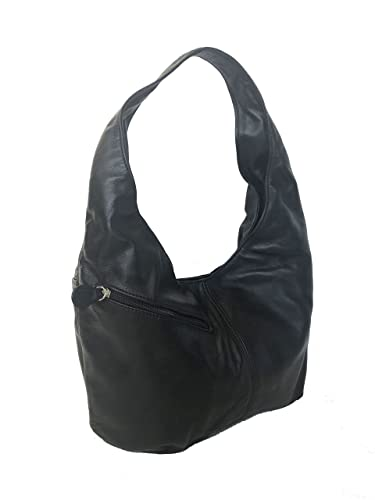 Image Unavailable. Image not available for. Color  Fgalaze Black Leather  Hobo Bag Purse ... 2a7772a9df