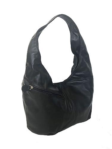 dceb5fdc87c5 Amazon.com  Fgalaze Black Leather Hobo Bag Purse w Pockets