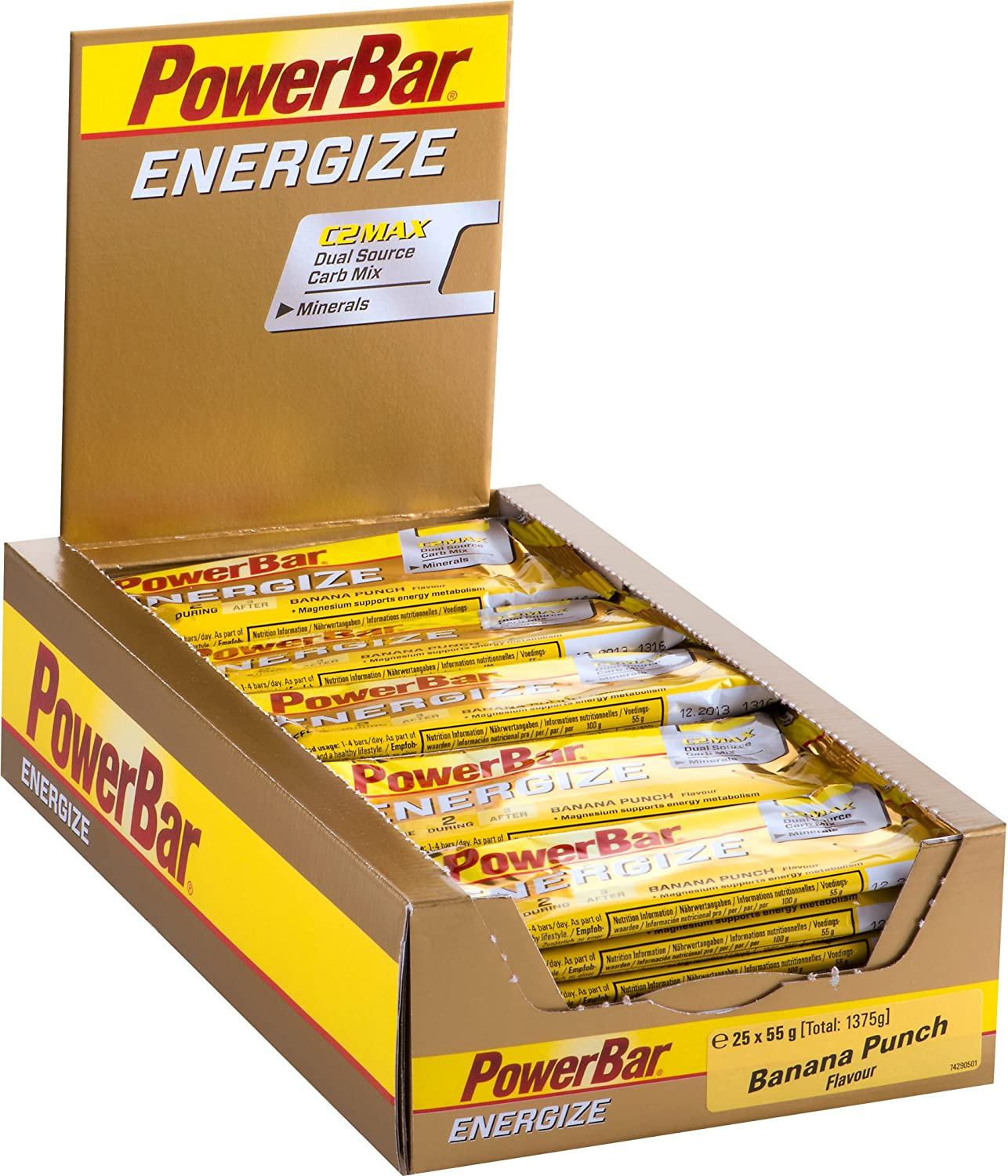 Powerbar Energize Bar, Sabor Banana Punch - 25 Barras: Amazon.es: Salud y cuidado personal
