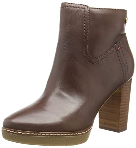 Tommy Hilfiger JENINA 2A - Botas Bajas de Cuero Mujer, Color marrón, Talla 40: Amazon.es: Zapatos y complementos