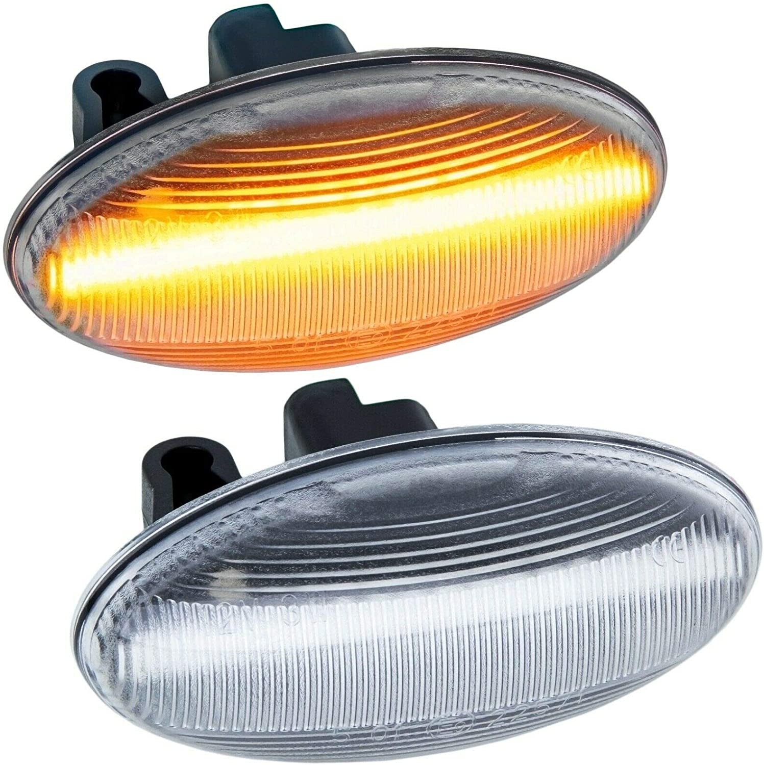 607 Clear Glass 407 108 1007 rm-style LED Side Indicator Compatible with Peugeot 107 206 307