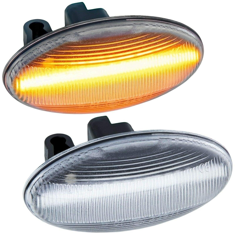 1007 607 108 307 407 Intermitente Lateral LED Compatible con Peugeot 107 206 Mr Style