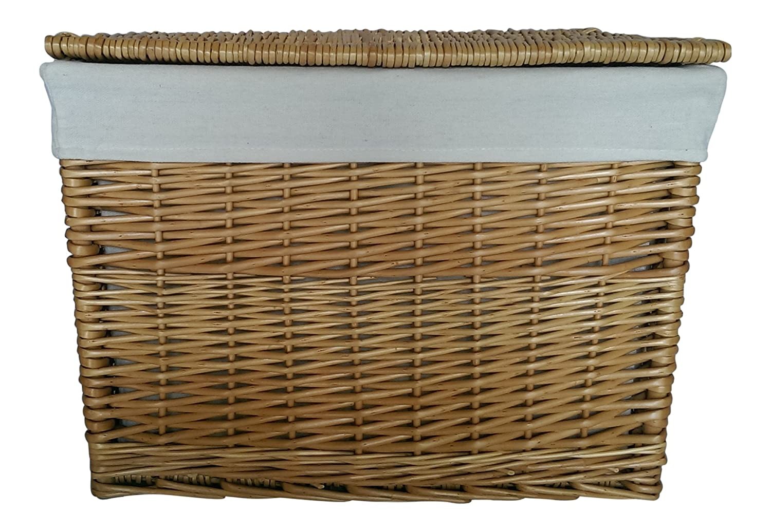 Buff Willow Wicker Deep Storage Chests / Lids / Baskets / Trunk / Lining (X-Small: L31 cm x W21 cm x H30 cm) Choice Baskets